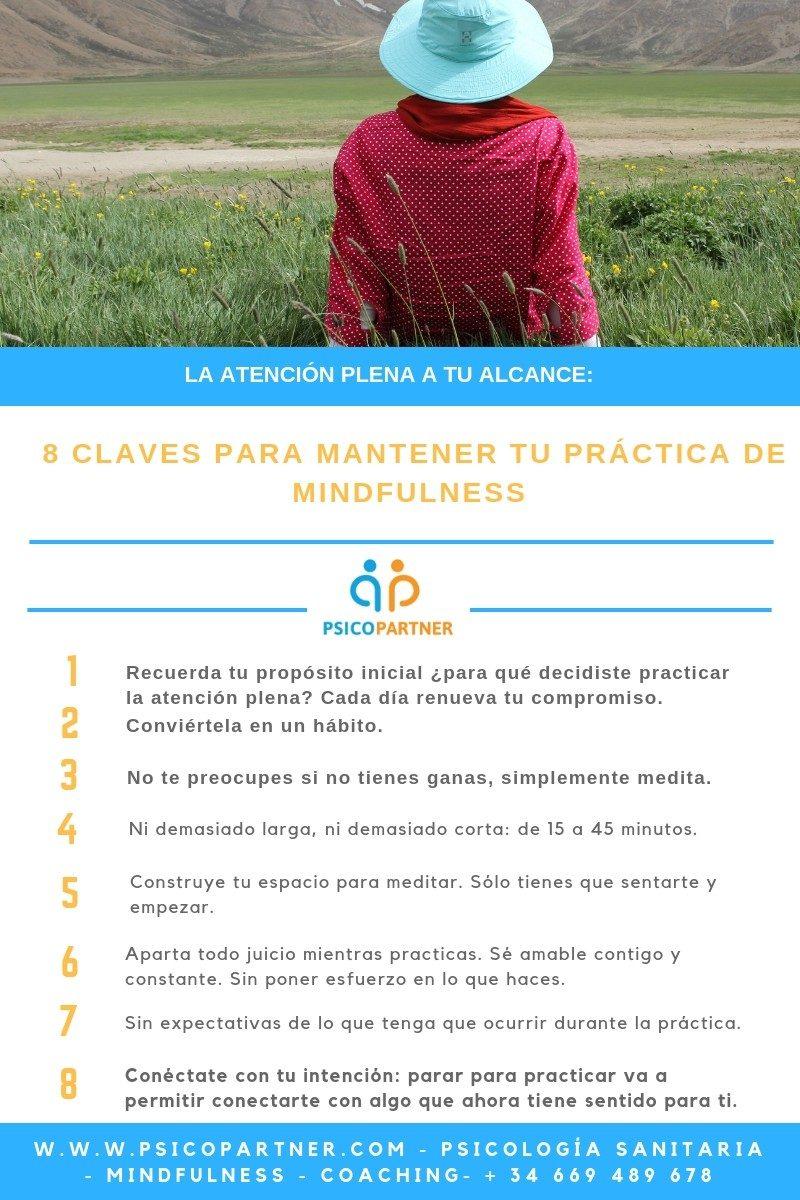 8 CLAVES PARA MANTENER TU PRÁCTICA DE MINDFULNESS